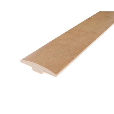 Solid Hardwood Alaska 0.28 in. T x 2 in. W x 78 in. L Low Gloss T-Molding