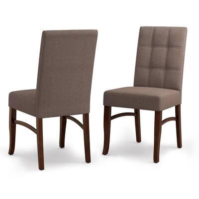 Ezra Light Mocha Deluxe Dining Chair (Set of 2)