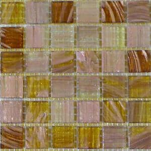 Light Brown 12 in. x 12 in. x 4 mm Glass Mosaic Tile DIY Kit (10 sq. ft./case)