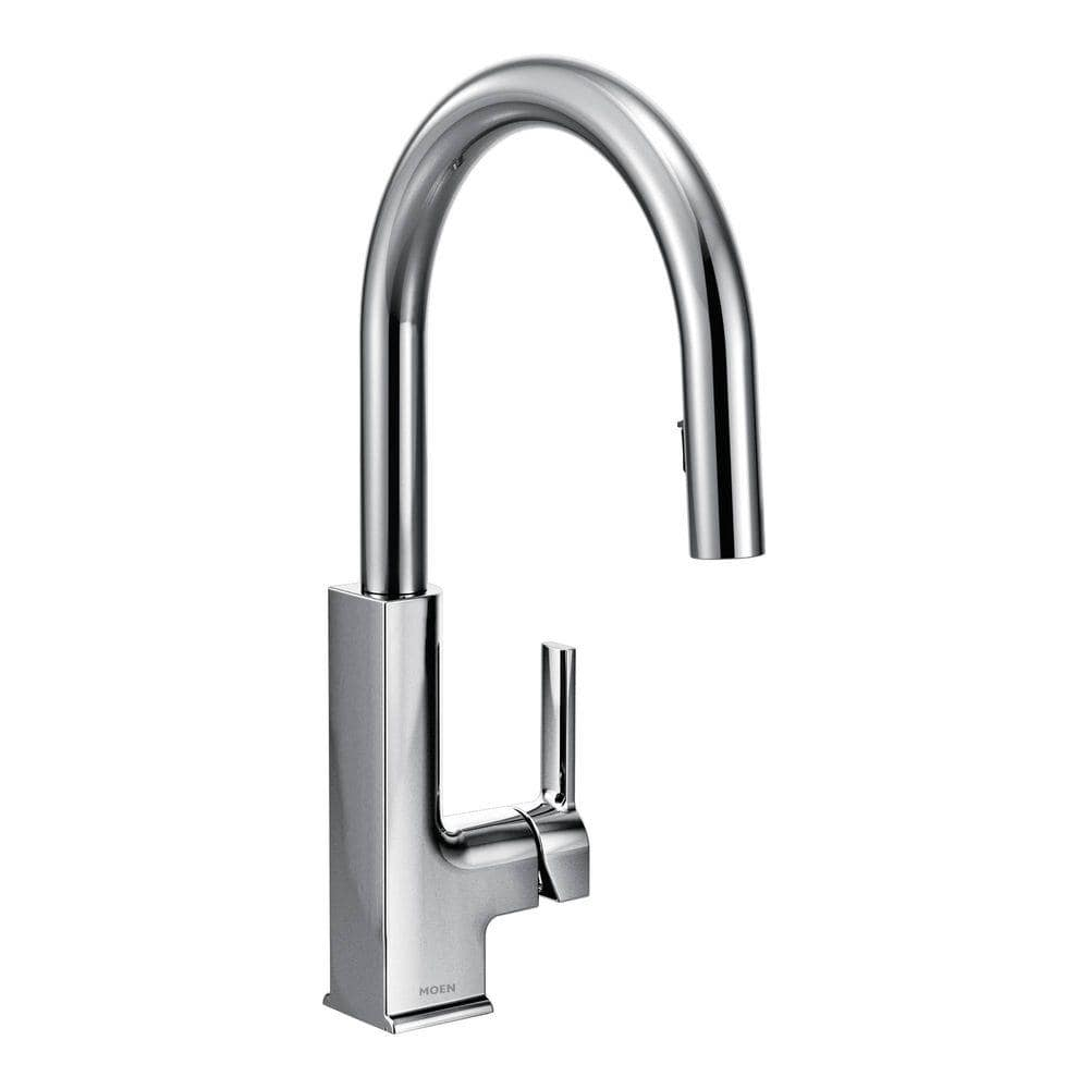 Reviews For Moen Sto Single Handle Pull Down Sprayer Kitchen Faucet With Reflex In Chrome S72308 The Home Depot