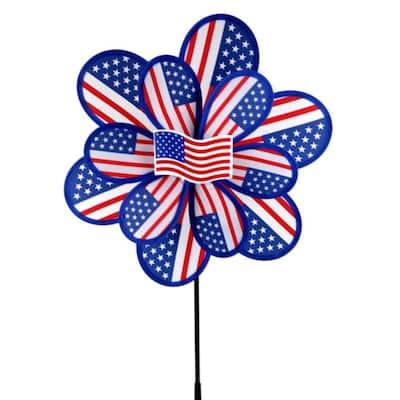 15 in. Nylon USA Yard Spinner