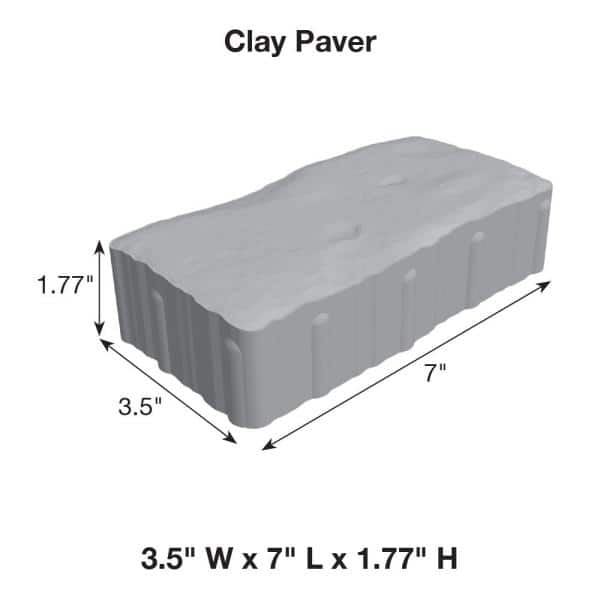 Pavestone Clayton 3 5 In W X 7 In L X 1 77 In H Greystone Concrete Paver 11019534 The Home Depot