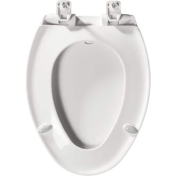 Bemis Hospitality Elongated Closed Front Toilet Seat In White 7b7900tdgsl 000 The Home Depot
