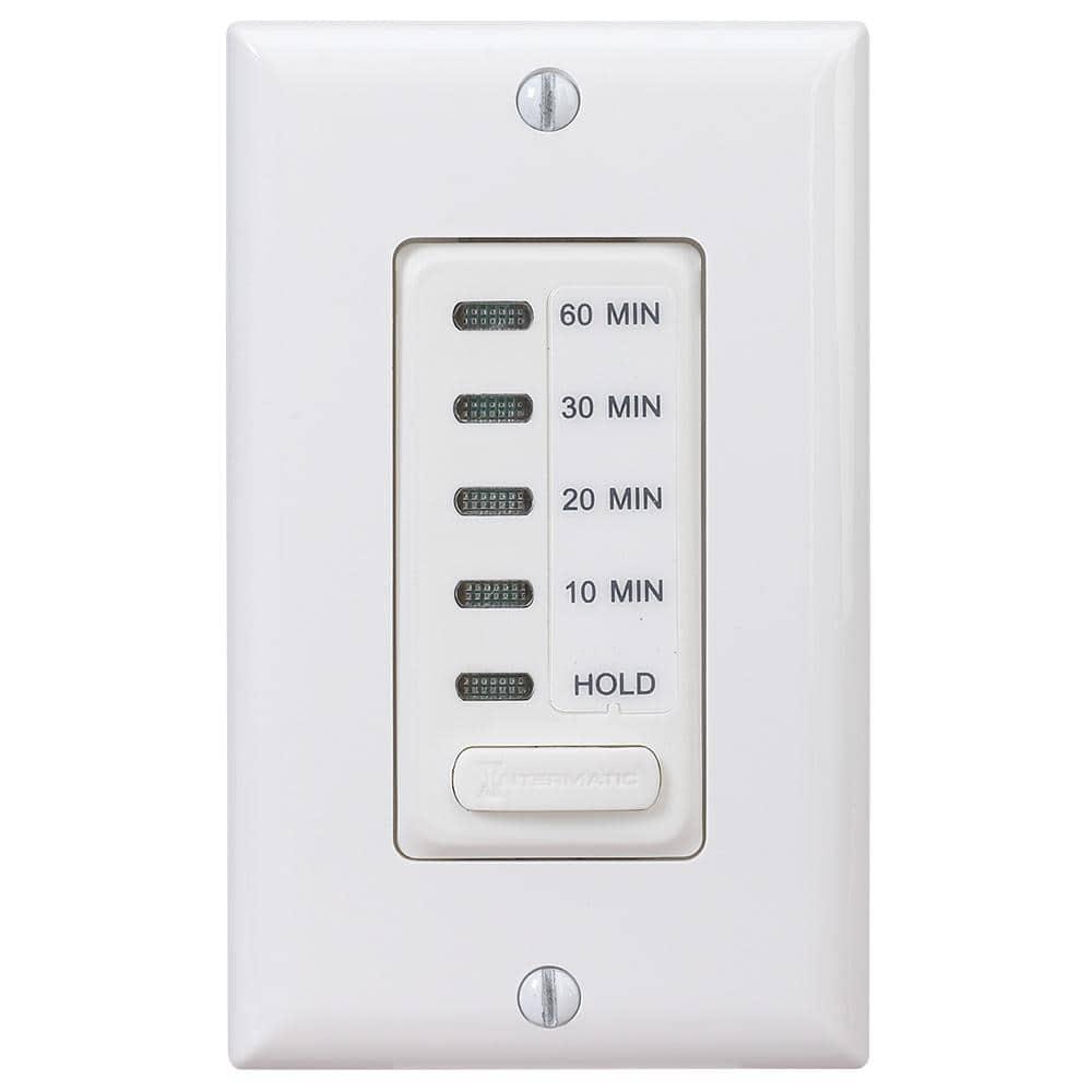 Intermatic 15 Amp In Wall Digital Auto, Bathroom Fan Timer Switch Home Depot