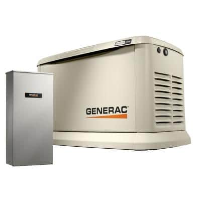 Guardian 24,000-Watt (LP) / 21,000-Watt (NG) Air-Cooled Whole House Generator with Wi-Fi and 200-Amp Transfer Switch
