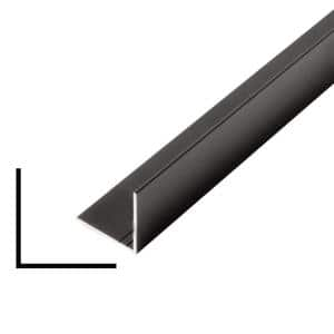 1 in. x 1 in. x 96 in. Metal Mira Black Outside Corner Moulding