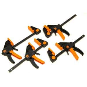6 in. Heavy-Duty Steel Bar Clamps and Spreaders with 2.3 in. Throat (4-Pack)