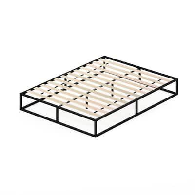 Angeland Monaco Queen Wood Slats Metal Bed Frame Foundation