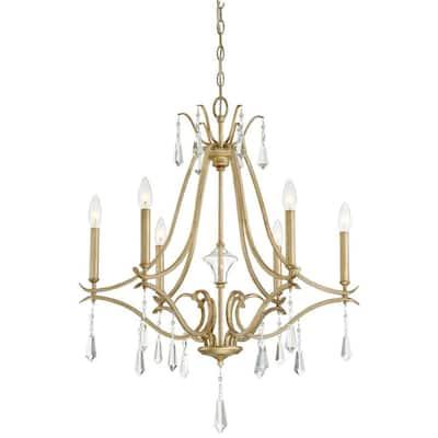 Laurel Estate 6-Light Brio Gold Chandelier