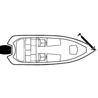 Flex-Fit Poly-Flex Boat Cover For 16 ft. to 19 ft. Fish & Ski Boats I/O or O/B, Tournament Ski Boats and Wide Bass Boats