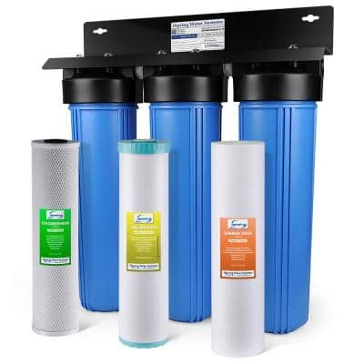 Heavy Metal Reducing Whole House Water Filtration System with 20 in. Sediment, KDF and Carbon Block Filters