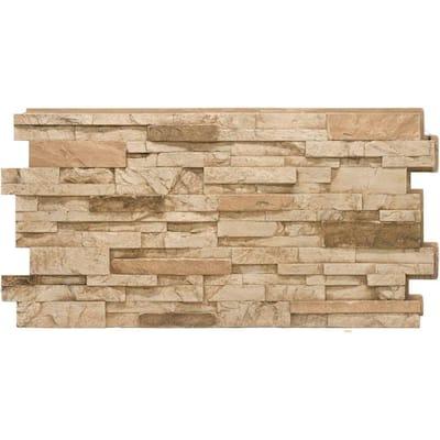 Stacked Stone #35 Desert Tan 24 in. x 48 in. Stone Veneer Panel