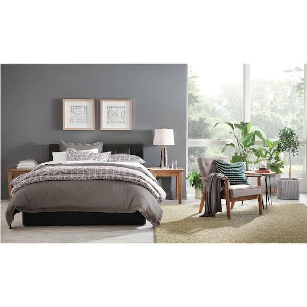 Baxton Studio Engelbertha Black Queen, Engelbertha White Queen Upholstered Bed