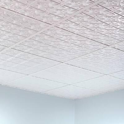 64 sq. ft. White Surface Mount Ceiling Grid Kit