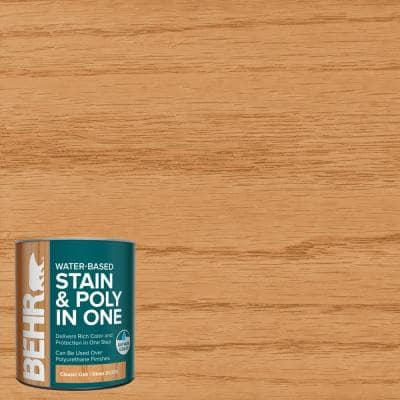 1 qt. #TIS-356 Classic Oak Gloss Semi-Transparent Water-Based Interior Stain and Poly in One
