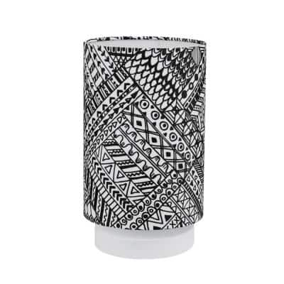 Lucy 10 in. Tribal Pattern Table Lamp with Fabric Shade