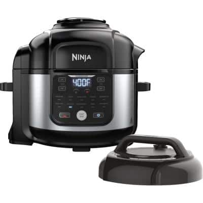 6.5 qt. Electric Stainless Steel Pro Pressure Cooker + Air Fryer with Nesting Broil Rack