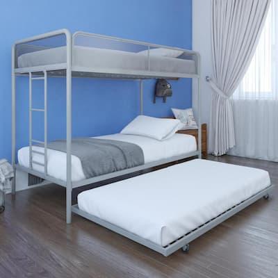 Ellie Gray Metal Triple Twin Bunk Bed