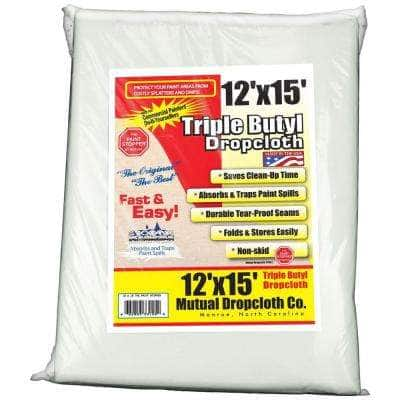 12 ft. x 15 ft. White Triple Coated Butyl the original Paint Stopper