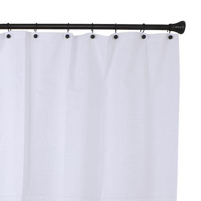Ball Shower Curtain Hooks, Rustproof Aluminum Shower Curtain Hooks for Bathroom Shower Rods Curtains, Black (Set of 12)