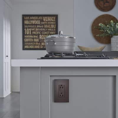 radiant 15 Amp 125 Volt Tamper Resistant Decorator Outlet, Dark Bronze