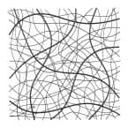 Large Metal Black Abstract Square Wall Art