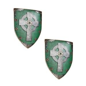 Celtic Warriors Sculptural Wall Shield (2-Piece)