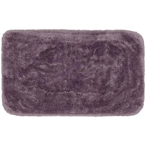 Finest Luxury Purple 30 in. x 50 in. Plush Nylon Bath Mat