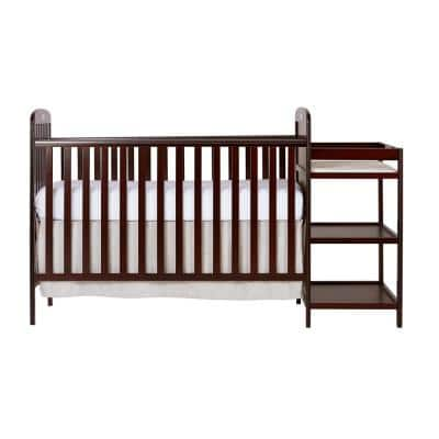 Anna Cherry 4-in-1 Crib and Changing Table Combo