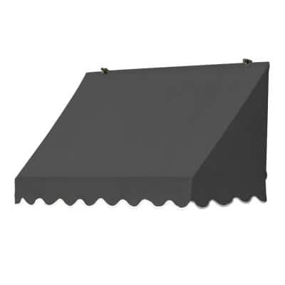 4 ft. Traditional Manually Retractable Awning (26.5 in. Projection) in Charcoal Gray