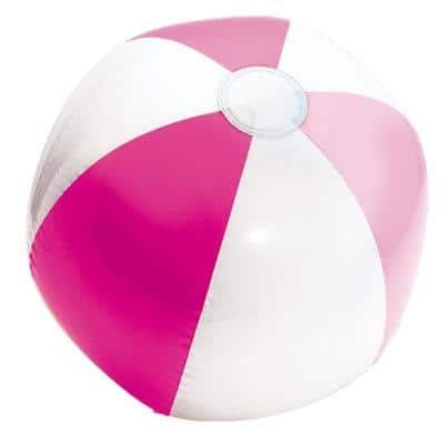 Summer Pink 13 in. Inflatable Beach Ball (9-Pack)
