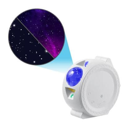 Star Projector - Starlight Sky Laser Projector with LED Nebula, Stars, and Moon Reflection (White)