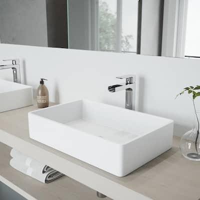 Amada Single-Handle Vessel Sink Faucet in Chrome