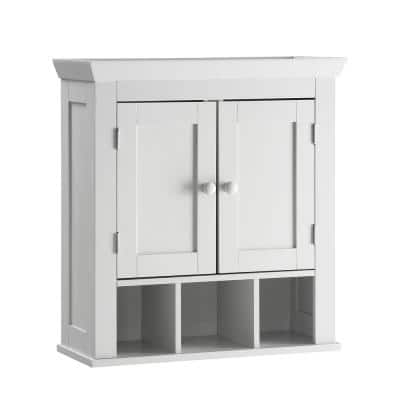 Rancho 22.4 in. W Space Saver Wall Cabinet in White