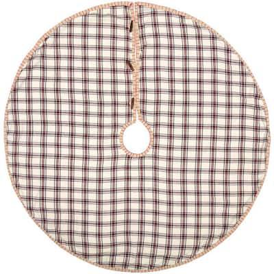 48 in. Amory Ivory White Farmhouse Christmas Decor Tree Skirt