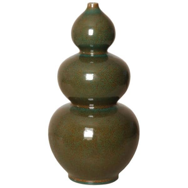 Emissary 19 In Double Gourd Amazon Green Porcelain Vase 4040ag The Home Depot