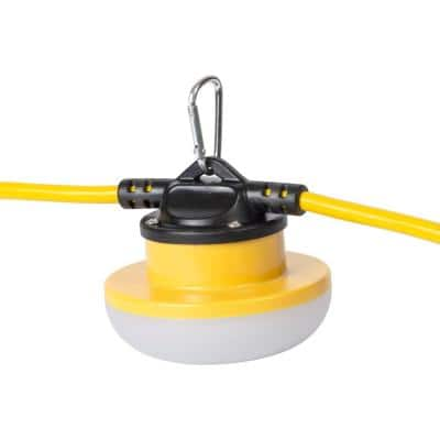 50 ft. 18/2 SJTW Temporary Work Light Stringer with 5 Integrated LED Lights Included, 15 Amp