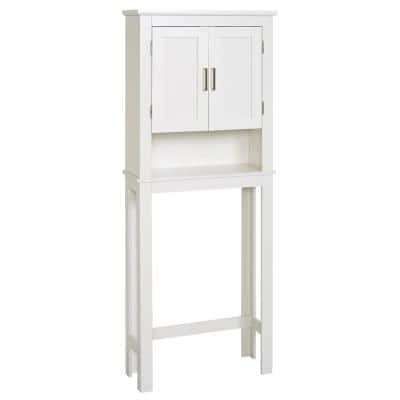 Shaker 26.5 in. W x 68 in. H x 10.1 in. D White Over-the-Toilet Storage