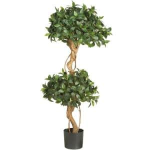 4 ft. Sweet Bay Double Ball Topiary Silk Tree