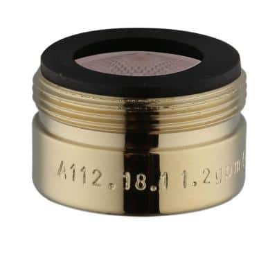 Builders 8 in. Widespread 1.2 GPM Bathroom Sink Faucet Aerator in Polished Brass