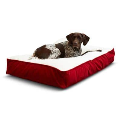 Buster Medium Crimson Sherpa Dog Bed