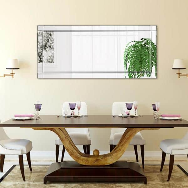 Empire Art Direct Large Rectangle Clear Beveled Glass Contemporary Mirror 54 In H X 24 In W Mom 20025c 2454 The Home Depot