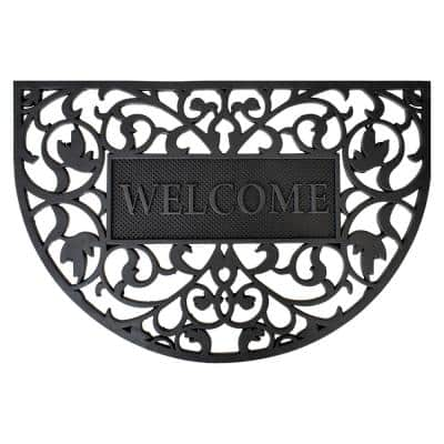 Welcome Arch Rubber Doormat 24 in. x 36 in.