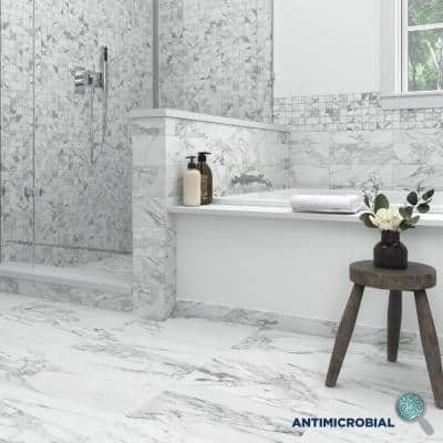 EpicClean Milton Arabescato Marble 12 in. x 24 in. Glazed Porcelain Floor and Wall Tile (15.6 sq. ft./Case)