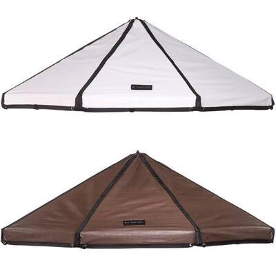 Reversible Brown/White Polyethylene Canopy for 8 ft. Pet Gazebo