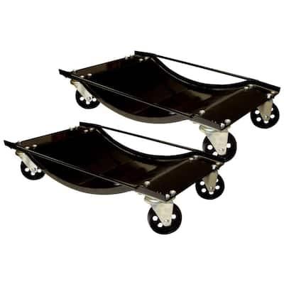 1000 lb. Capacity Steel Car Dolly Set (2-Piece)