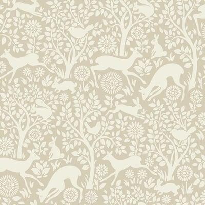 Anahi Neutral Forest Fauna Neutral Wallpaper Sample