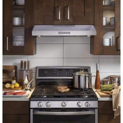 Profile 30 in. Convertible Under the Cabinet Range Hood with LED Light in Stainless Steel