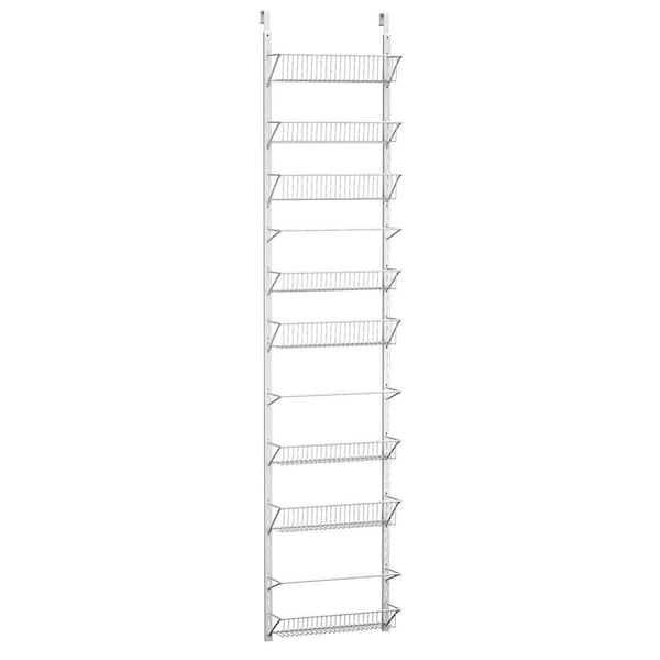 White Metal Hanging Door Rack Eight Shelf Kitchen Pantry Storage Organizer New
