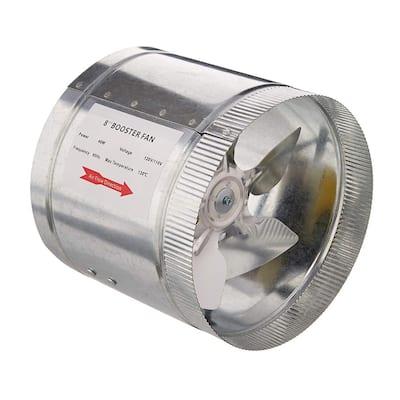 420 CFM 8 in. Booster Fan for Indoor Garden Ventilation